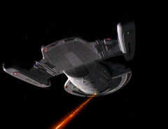 An //Intrepid//-class starship firing its phasers