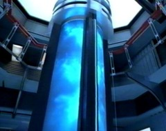 The class 9 warp core of an //Intrepid//-class starship